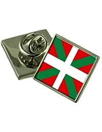 バスク地方のラペルピンバッジを刻まれた個人化されたボックス