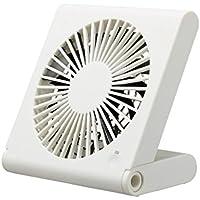 ドウシシャ 卓上扇風機 スリムコンパクトファン 3電源(AC USB 乾電池) 風量3段階 ピエリア ホワイト FST-106U WH