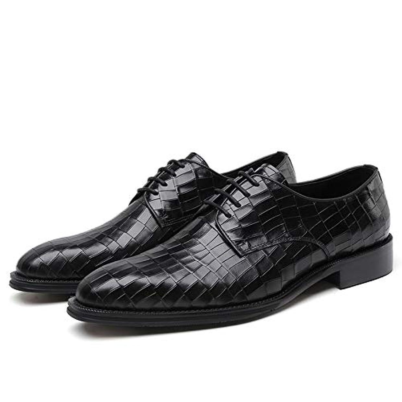 熟読する枯渇スツール2018新品 メンズビジネスシューズ 紳士靴 ヨーロピアン本革 レザー 牛革 レースアップ ワニ紋 蛇紋 ブラック DJ55