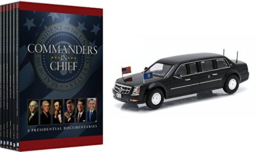 """Commanders in Chief 6-DVD Set with 2009 Cadillac """"The Beast"""" Barack Obama Presidential Limousine 1/43 Size Diecast Car"""
