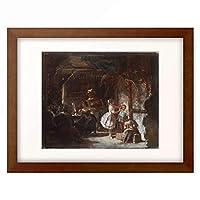 カール・シュピッツヴェーク Carl Spitzweg 「Hinter den Kulissen, 1855/60.」 額装アート作品