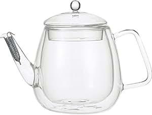 iwaki 岡田美里 紅茶ソムリエシリーズ 【2重構造耐熱ガラス】 Airティーポット KML816