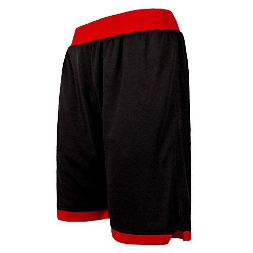 ショートパンツ メンズ スポーツ ハーフパンツ FOR ランニング フィットネス 10色 [メンズ] (イーヨウ)EU ブラック・レッド 2XL