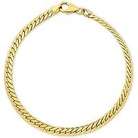 Bevilles 9ct Yellow Gold Herringbone Bracelet
