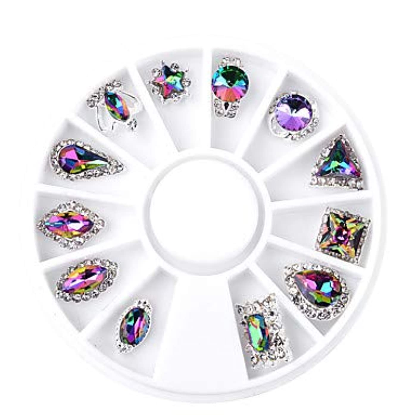 ドアミラー美容師札入れ12個の人工ネイルのヒントネイルジュエリーファッショナブルなデザインネイルアートマニキュアペディキュアデイリースタイリッシュな着用