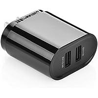 UGREEN USB 急速充電器 2ポート 17W PSE認証済み iPhone8、iPhone8 plus、iPad 、Samsung Galaxy S8 plus、LG G6、HUAWEI Mate9、HTC、Nexus、MP3/MP4、ゲーム機器、GPS機器等USBデジタル機器に適用 ブラック