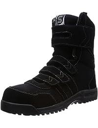 [サンダンス] 本革 帆布 安全靴 ロングブーツ ベルクロ GSG-9