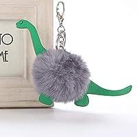『JHESQB』キーホルダー かわいいふわふわ恐竜レディーバッグカージュエリーキーホルダー