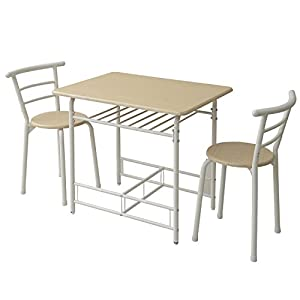 山善(YAMAZEN) ダイニングテーブル&チェア(3点セット) ナチュラル YSD-6080R(RW/OW)