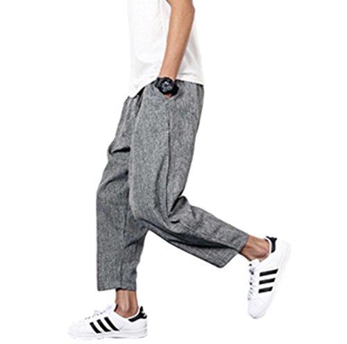 [해외][코티스에루토] 와이드 롯뿌도 바지 아홉 부 캐주얼 남성 M ~ 4XL 사이즈/[Cottisuelto] wide cropped pants Nine quarter length casual men`s M ~ 4 XL size