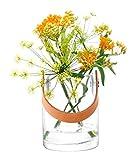 LSA(エルエスエー) フラワーベース(花器) レザーハンドル付き クリア 高さ18.5cm UTILITY(ユーティリティー) G1293-13-301の写真
