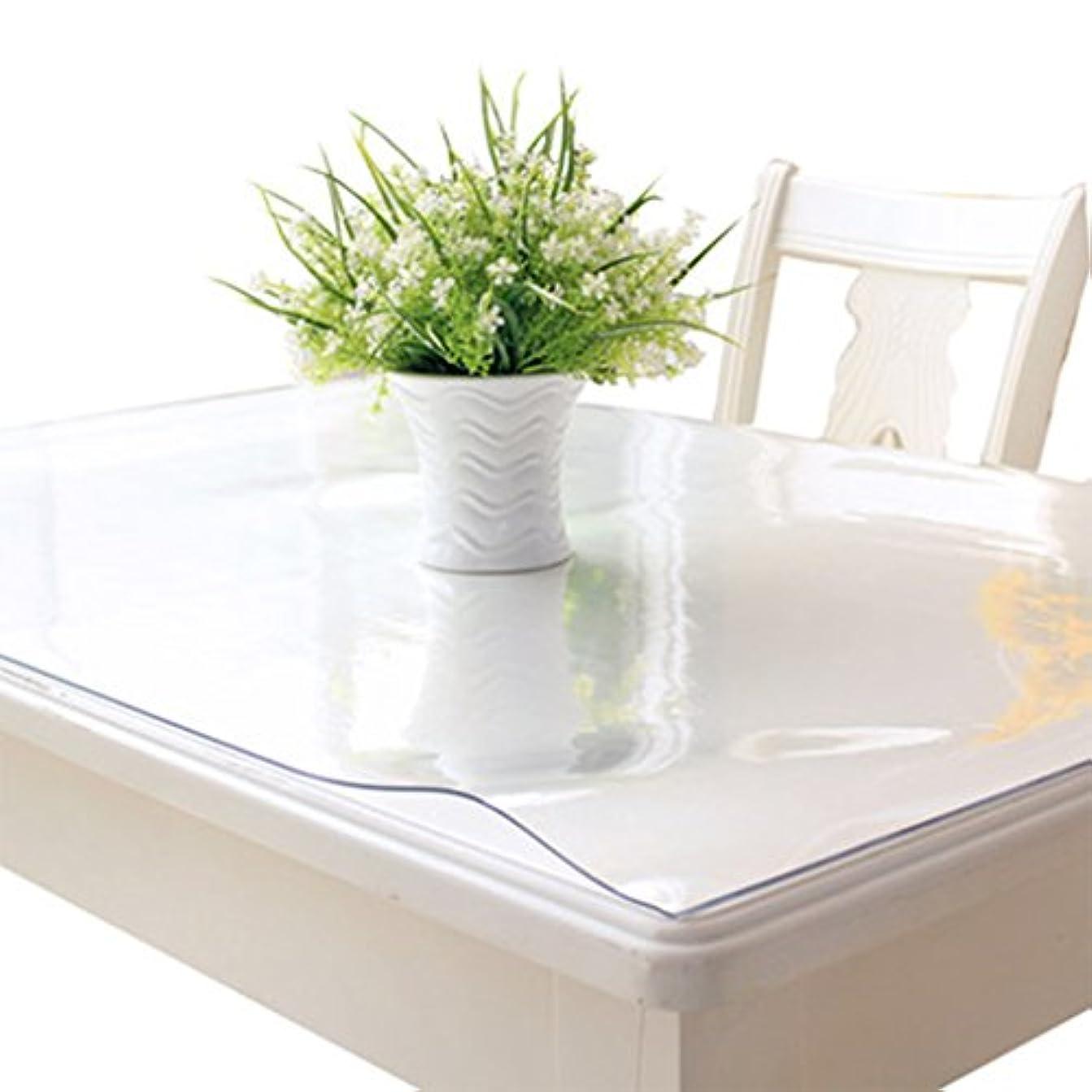 石灰岩しなければならない集める軟質ガラスPVCテーブルクロス防水耐ホットオイル?テーブル?クリスタルテーブルコーヒーテーブル透明パッド (Color : 5MM, Size : 90X160CM)