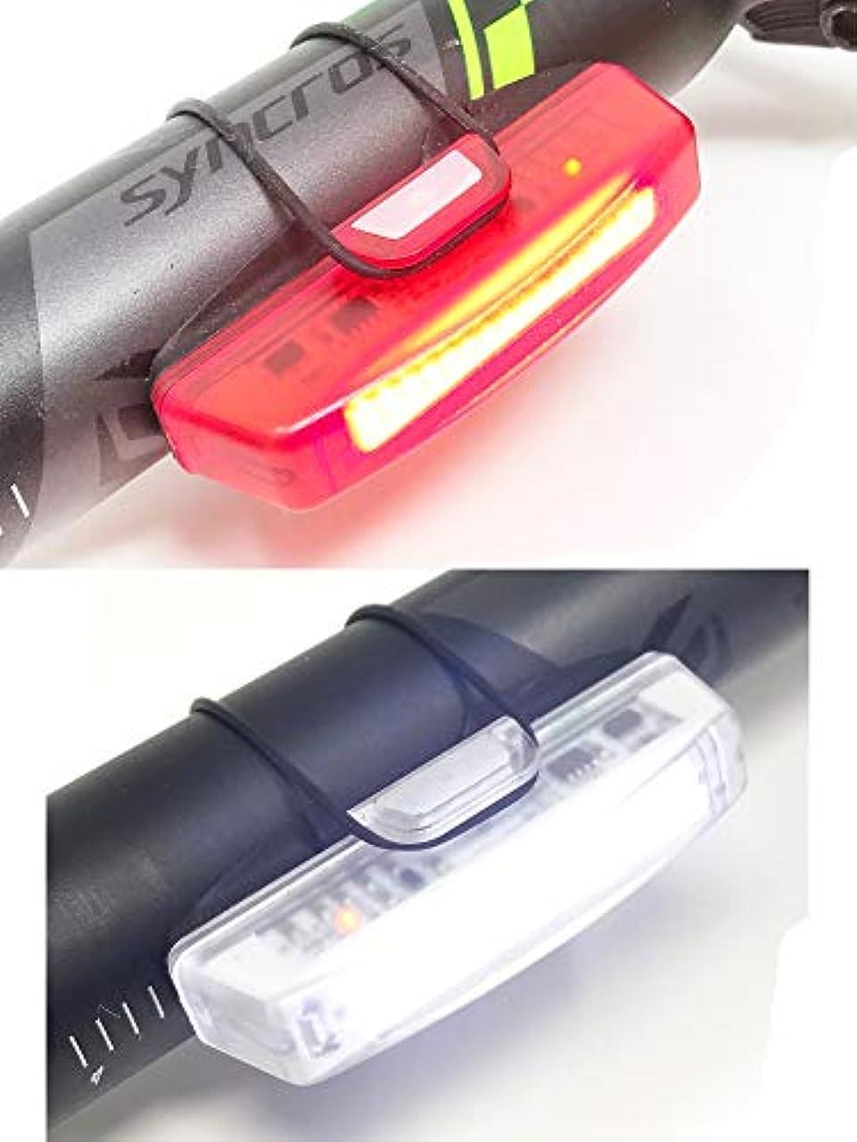 うまくいけば革新配るキャニオンアクセサリーコンボバイクライトスーパーブライト - USBケーブルでテールライトとフロントライト - 充電式 - あらゆるバイクやヘルメットにフィット - 防水IPX4-6ライトモードオプション