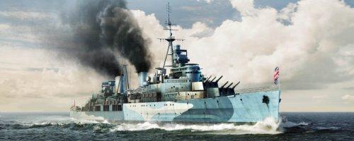 1/350 イギリス海軍軽巡洋艦 HMSベルファスト 1942