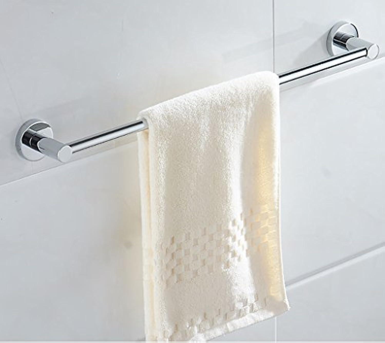 バスルーム棚浴室タオルバー304ステンレス鋼タオルバーロッド拡張子タオルラック浴室用シングルレバーバスルームタオルストレージラック 60cm