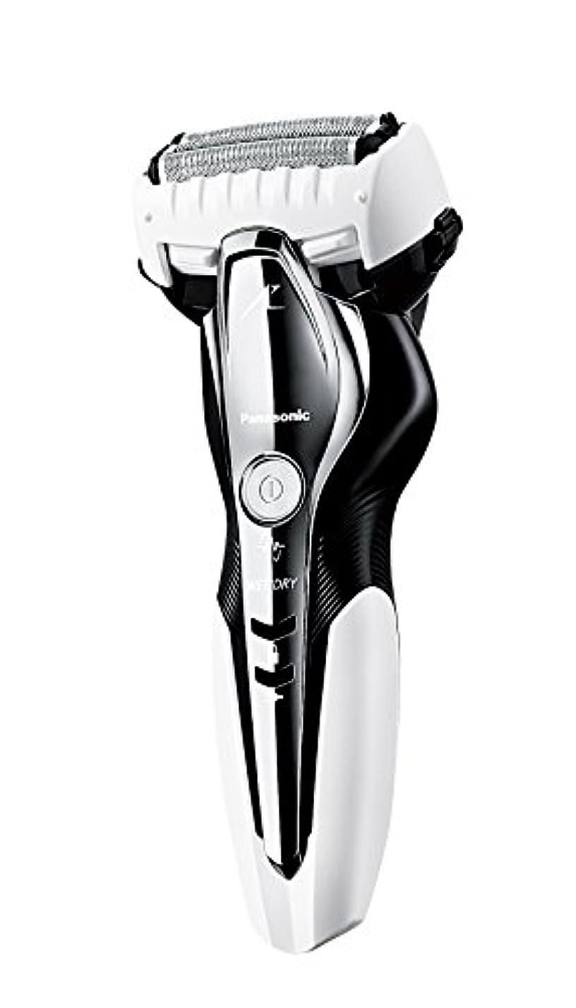 機構充電あごパナソニック ラムダッシュ メンズシェーバー 3枚刃 お風呂剃り可 白 ES-ST2Q-W