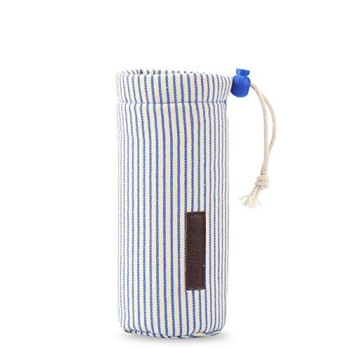 ZOJIRUSHI 水筒カバー、Thermosサモース、、Tigerなどの水筒に対応 ボトルカバー ズック ストラップがある 断熱水筒カバー 保護ケース サーモスJNL 500/JNO500 500ml 、 SM-SA48/JC48 KB-48 480ML - 青