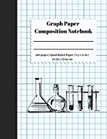 Graph Paper Composition Notebook: 5 Squares Per Inch / Graph Paper Quad Rule 5x5 / 8.5 x 11 / Bound Comp Notebook