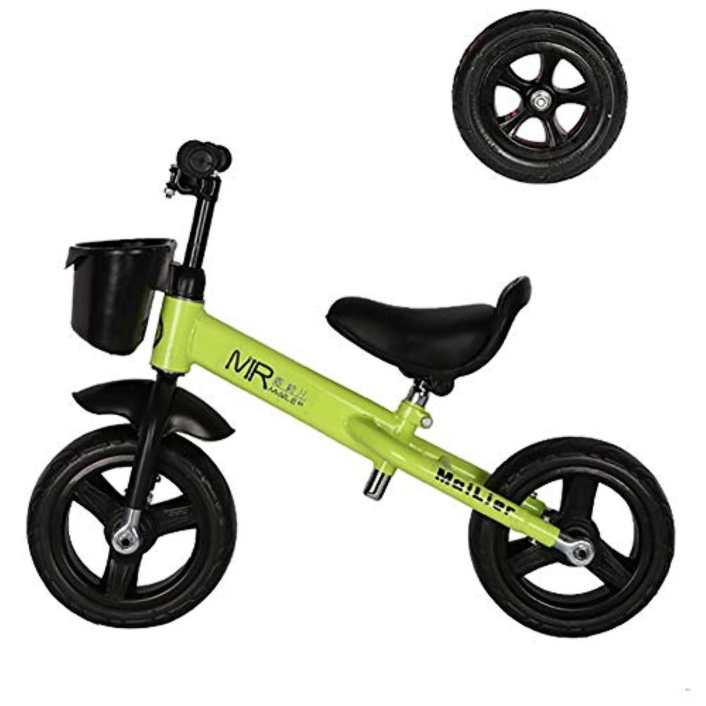 バランスバイク キッズバランスバイクペダルなし調整可能なハンドルバー&シートの高さ年齢2-4 10