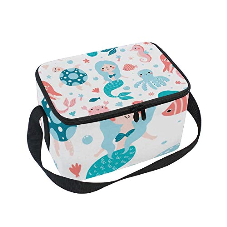 ラップナンセンスローブクーラーバッグ クーラーボックス ソフトクーラ 冷蔵ボックス キャンプ用品 綺麗 人魚 漫画 保冷保温 大容量 肩掛け お花見 アウトドア
