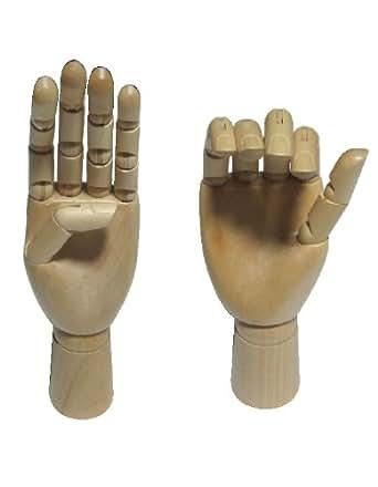 シルエットが美しい! デッサン ハンド 木製 両手 ( 左右 ペア ) セット 白箱入り ハンドマネキン