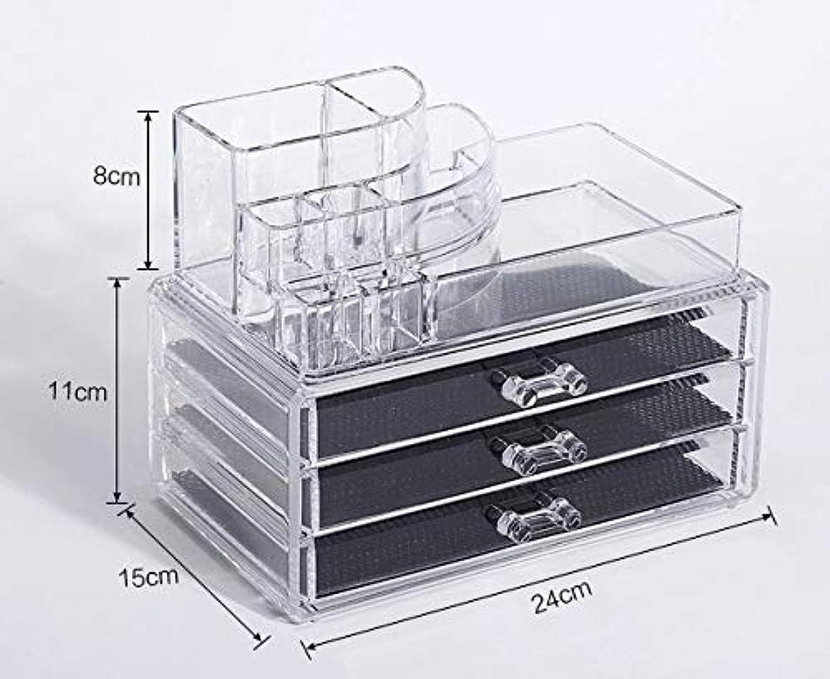 些細霊教室化粧品収納ボックス メイクボックス 化粧品 収納 ニオイなし 騒音なし 防塵 高透明度 強い耐久性