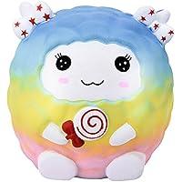 Archangel Smile 10cm スクイッシー イースターレインボー 羊の香り付き 低反発スクイーズコレクション イースターギフト Size: about10x10x10cm/3.93''X3.93''X3.93'' L