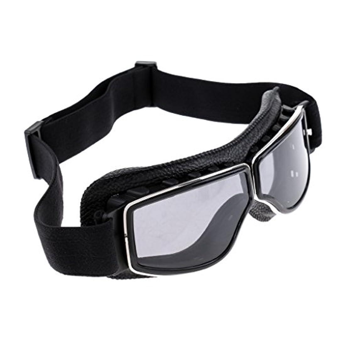 不足並外れた航海のmonkeyjackヴィンテージバイクバイカーゴーグル調節可能UV保護アウトドアメガネ防風防塵安全ゴーグル
