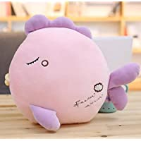 HuaQingPiJu-JP かわいい26センチメートルソフト魚のおもちゃぬいぐるみキスぬいぐるみキッズ(ピンク)
