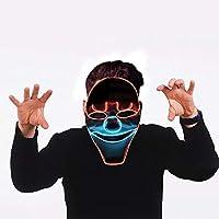 LEDマスク ハロウィンマスク 光るマスク ピエロ 変装グッズ コスプレ小物 忘年会 ハロウィン ドッキリ パーティー 2次会 小道具