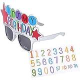 BESTOYARD 誕生日 おめでとう グッズ バースデー メガネ グラス面白い 眼鏡 変装 誕生日 パーティー 小物 子供 大人 おもちゃ 目飾り 道具 写真撮影