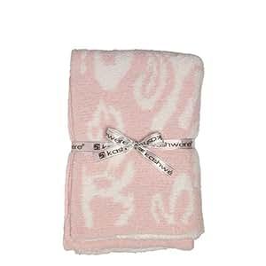 [カシウエア] kashwere Damask 織柄ハーフブランケット Pink w/ White[並行輸入品]