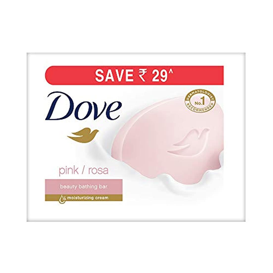 あいさつ消す減るDove Pink Rosa Beauty Bathing Bar, 100g (Pack of 3)