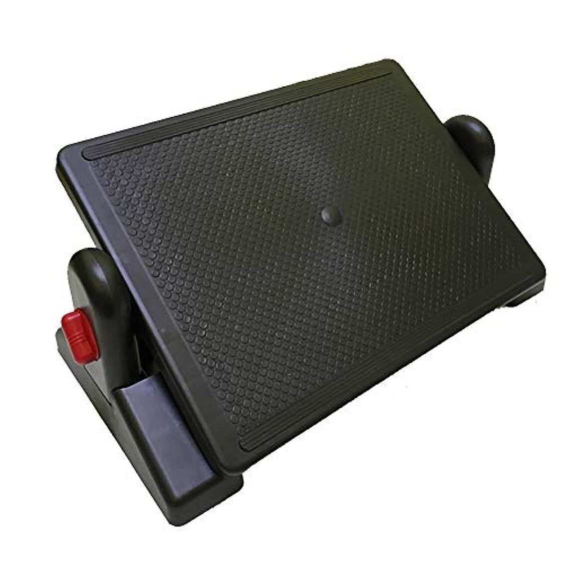 プレフィックスミントフライカイト机の下のロックできる角度、オフィスの机の下の人間工学的の愚かなスツール、フットライザー、家のための腰痛の軽減、オフィスの調節可能なフットレスト,Red