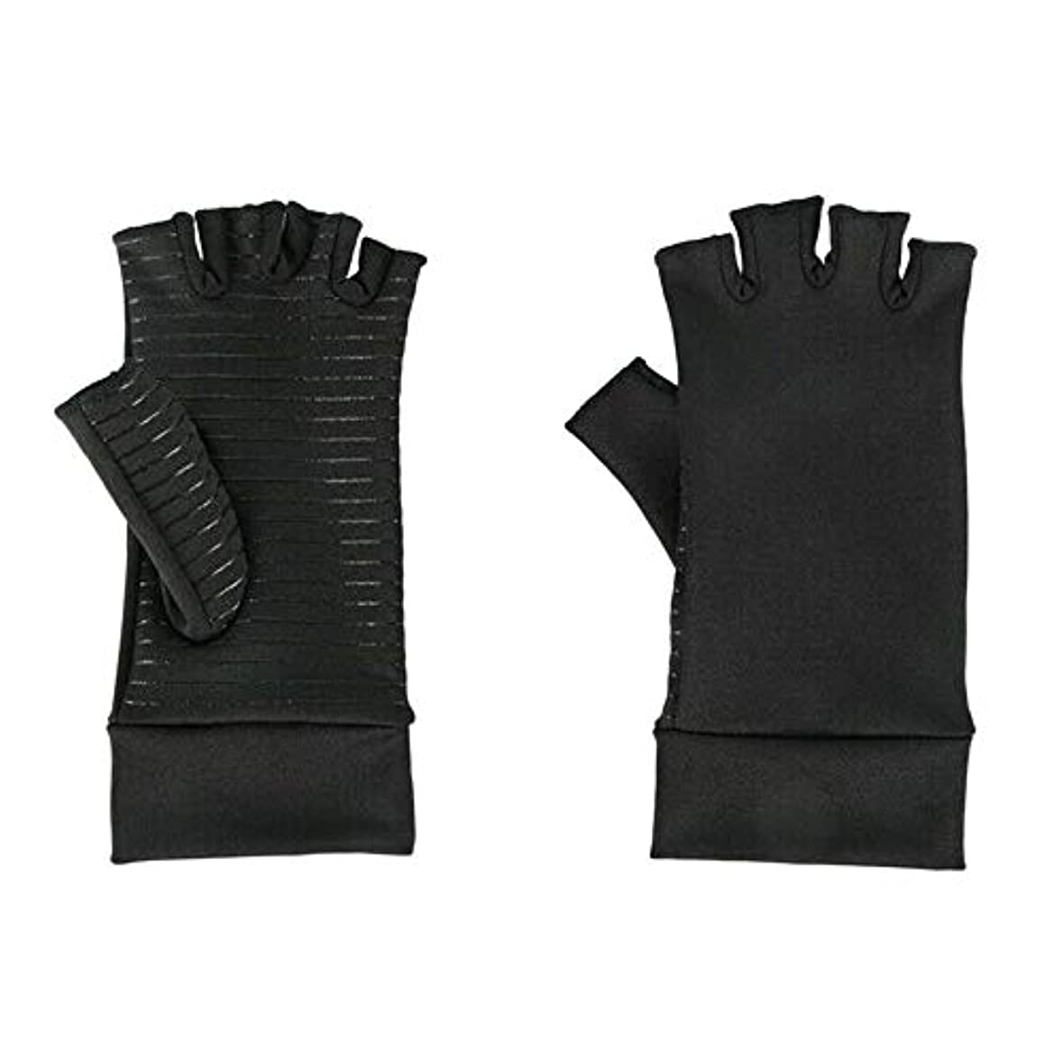 苦ちなみにくるくるACAMPTAR 圧縮手袋、関節炎、手根管、手首の装具、サポート、M