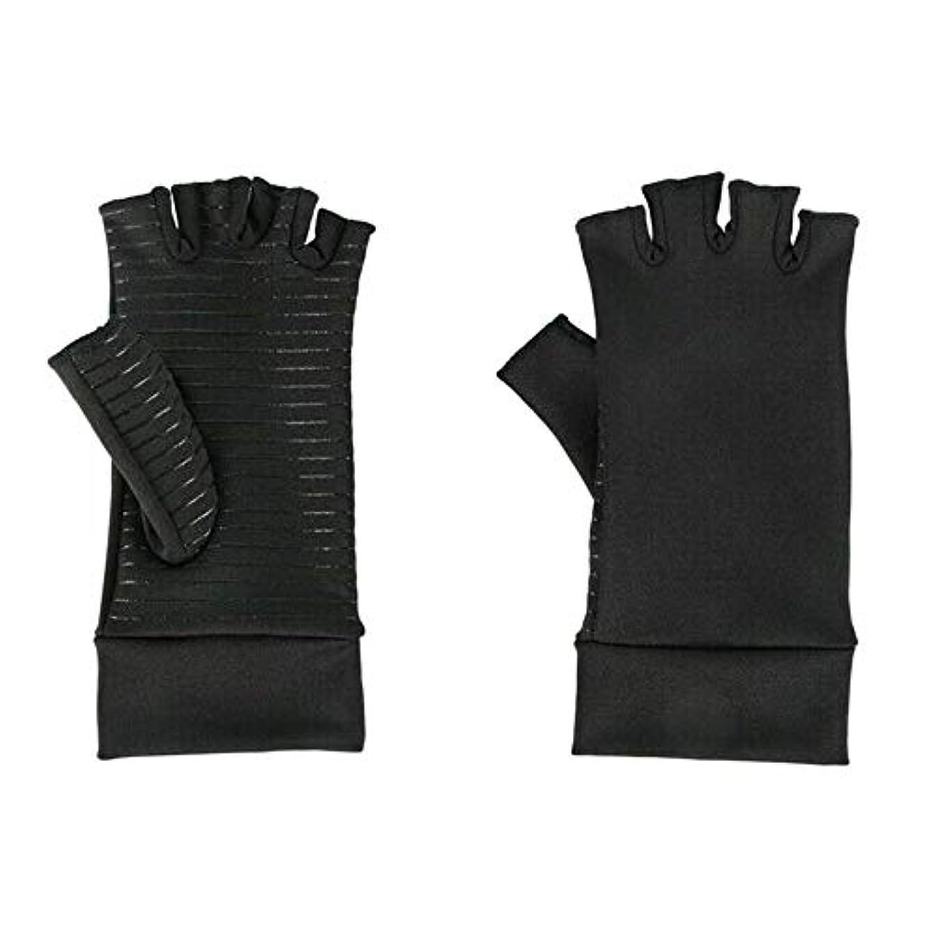膨らみ二層組み込むSODIAL 圧縮手袋、関節炎、手根管、手首の装具、サポート、S
