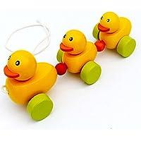 プル玩具、NcOlA 3かわいいアヒルデザインベビーPush Pull Toy For Toddler Learningウォーカー