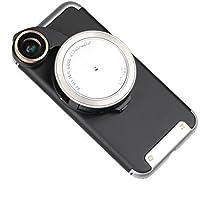 Ztylus 4-in-1 Revolver Lens Smartphone Camera Kit for Apple iPhone 7: Super Wide Angle, Macro, Fisheye, CPL, Protective Case, Phone Camera, Photo Video (Silver) [並行輸入品]