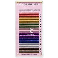 ICYCHEER 0.10/0.07 C/D 8-14 ミリメートル混合虹色つけまつげ個別のまつげエクステンション · アイまつげ個別のまつげ (010D, 9mm)