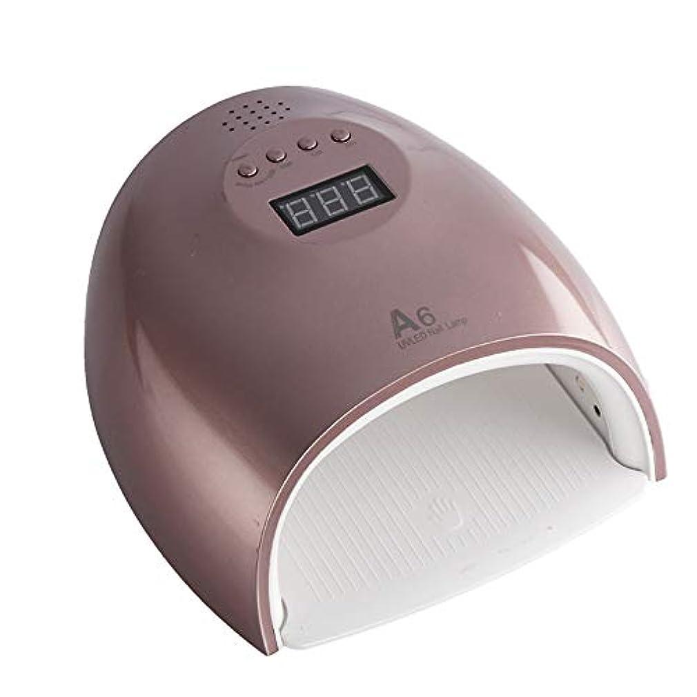 危険印象的な一マニキュア用赤外線誘導紫外線ランプでジェルポリッシュ用ネイルネイルランプランプのためのレッドライト60WオートLED UVランプ,ブラウン