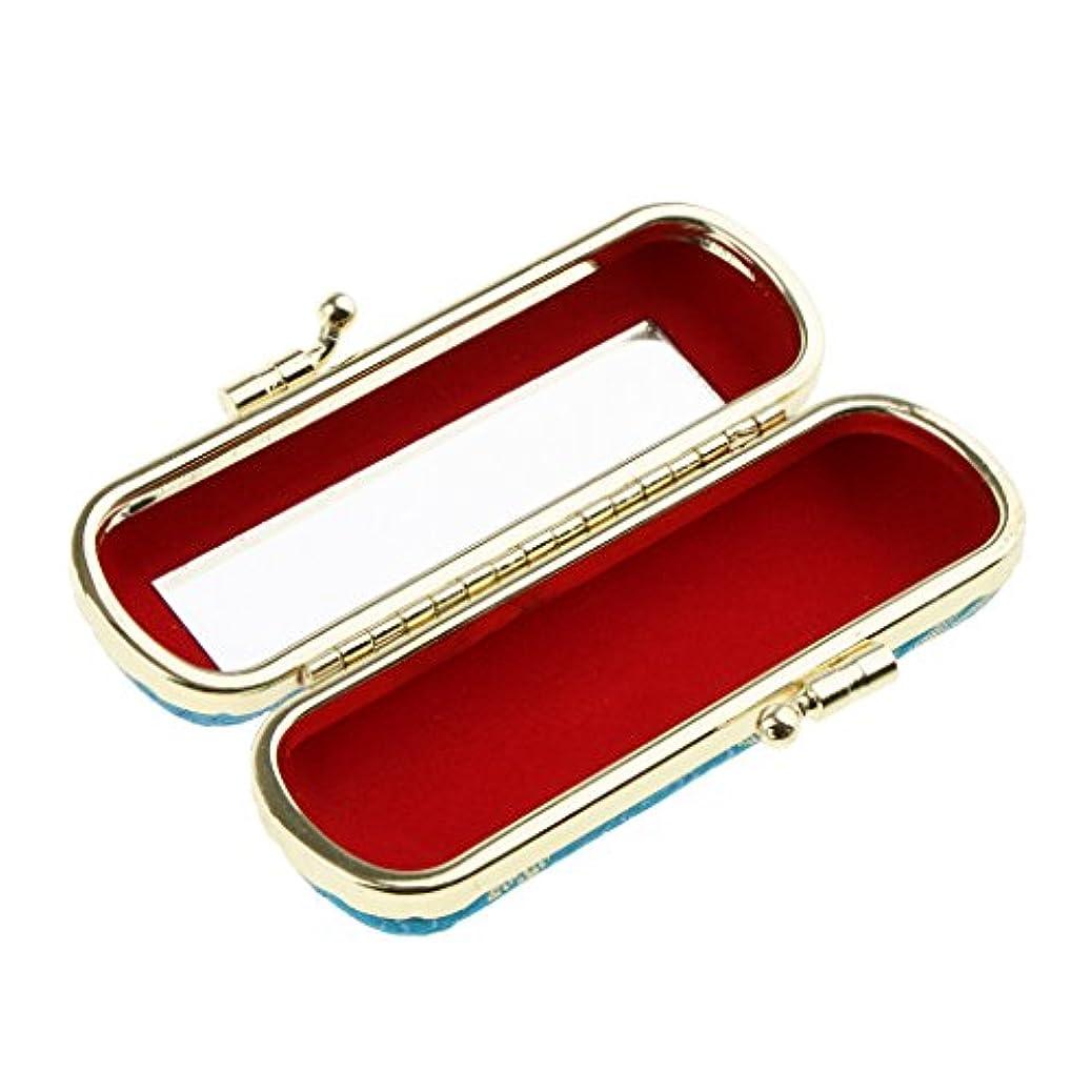 変装正当な飢饉化粧ポーチ 口紅ホルダー リップスティック リップグロス 収納ケース ミラー付き 小物入り メイクアップ ランダム色 - #1