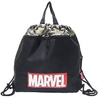MARVEL[ナップサック]ポリ巾着 バッグ/ミリタリー 迷彩 マーベル