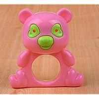 幼児期のゲーム かわいいベルのベビープラスチックのおもちゃのラトル教育玩具(ベアランダムカラー)
