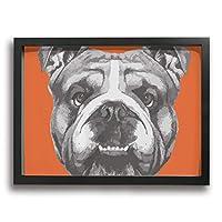 ブルドッグ かわいい子犬 肖像画 装飾画 絵画 玄関 木製額縁なし 部屋飾り 壁掛け式 現代 モダンアート 高品質 壁の絵 軽くて取り付けやすい 居間 壁掛け アートパネル インテリア ポスター