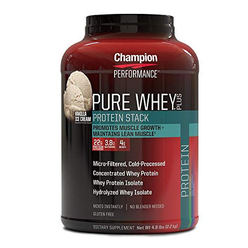 チャンピオンパフォーマンス ピュアホエイプラス プロテイン バニラアイスクリーム 2.2Kg (Champion PERFORMANCE/Champion Nutrition) [並行輸入品]