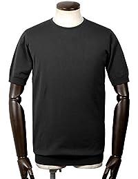 ジョンスメドレー JOHN SMEDLEY / 18SS!シーアイランドコットン30ゲージクルーネック半袖ニット『BELDEN』 (BLACK/ブラック) メンズ
