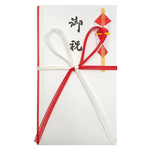 赤城 祝儀袋 紅白5本 御祝 花結び 5枚入 キ980281