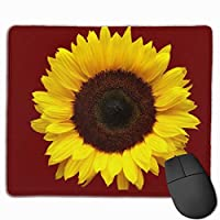 """Yellow Sunflower Mouse Pad Non-Slip Rubber Gaming Mouse Pad Rectangle Mouse Pads for Computers Desktops Laptop 9.8"""" x 11.8"""""""