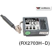ラジコン ヘリコプター WALKERA ワルケラ V450D03用 バーレス用6軸ジャイロ内蔵 2.4Ghz受信機 (RX2703H-D)DEVO送信機用  (HM-NEWV450D01-Z-04)