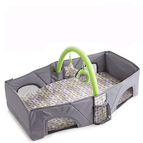 DEWEL 折り畳み式ベビーベッド ベビーベッド用 赤ちゃん 持ち運び ベッド  ベビー連れの旅行&外出などに 持ち運び便利 ショルダーバッグ に変われる